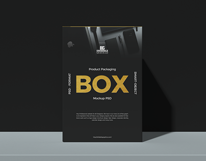 Free Product Packaging Box Mockup PSD