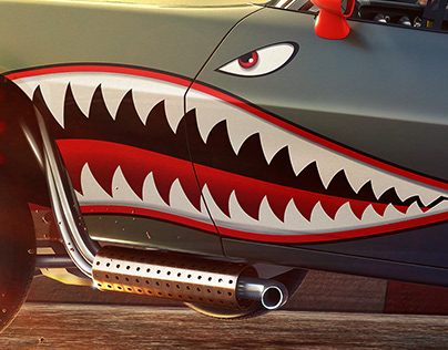 Funny Camaro Drag Racer