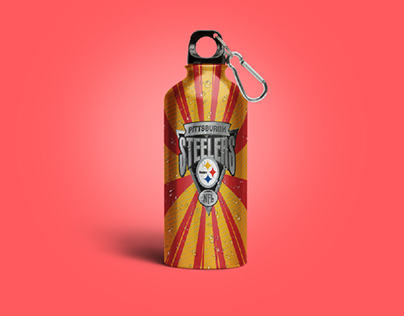 Pittsburgh Steelers Sports Bottle Designs