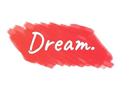 DREAM ! typography