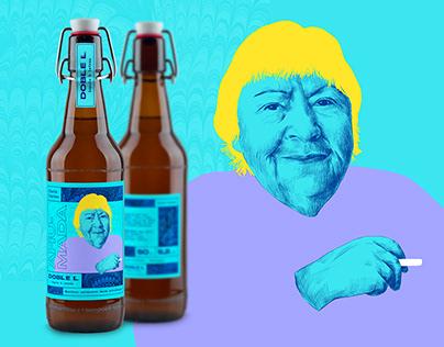 Doble L Beer // Illustration, Label Design & Web Design
