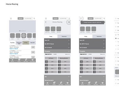 UX: InVision prototype; Native App Radio Player