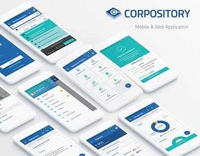 Branding and UI & UX Design of Corpository App