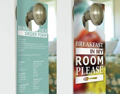 Room Service Door Hangers On Behance
