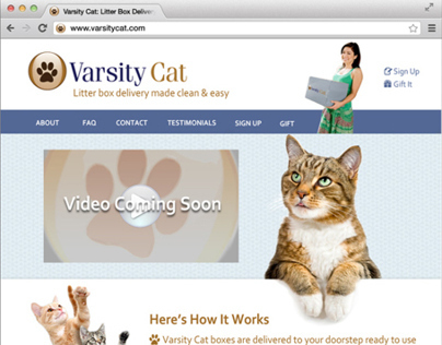 Varsity Cat Website Redesign