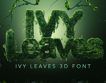 PSD Ivy Leaves 3D Letters