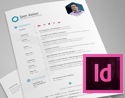 Resume Template for InDesign (Vita / CV)