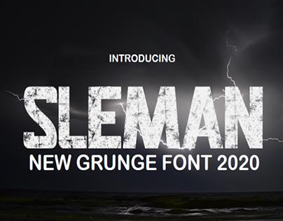 Sleman - A New Display Grunge Font 2020
