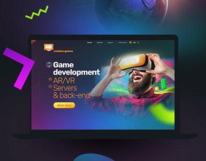 Cookies.games. Game development studio website