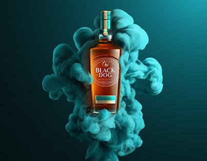 Black Dog Whisky - CGI product launch visuals