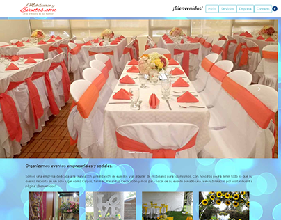 Diseño Web para mobiliarioyeventos.com