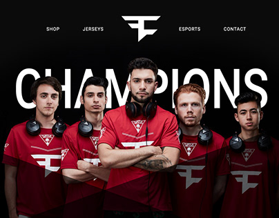 FaZe Clan Homepage Redesign