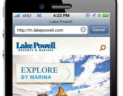 Lake Powell Mobile Website