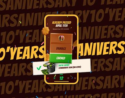 10 Years Aniversary World of Tanks   UX/UI