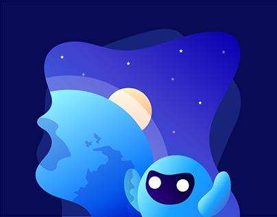 Flat Illustration for VPNETTE App