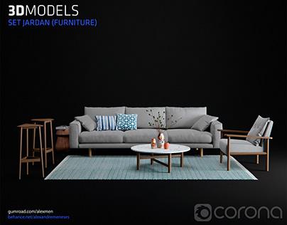 Set Jardan (Furniture) 3D Models