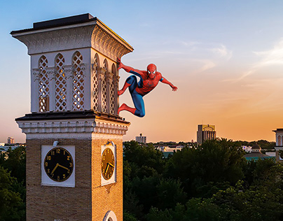 Spiderman is in Tashkent, Uzbekistan!