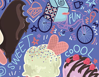 Paul's Homemade Ice Cream Illustration