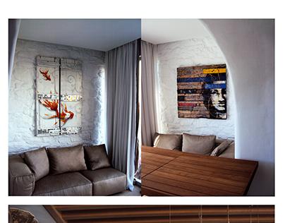 doors, window, wood panels
