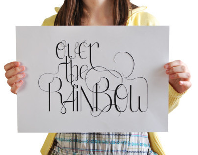 Lettering Over the Rainbow
