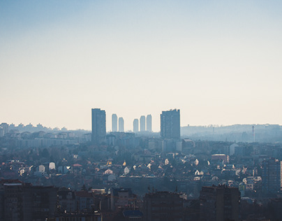 Rooftop views of Belgrade