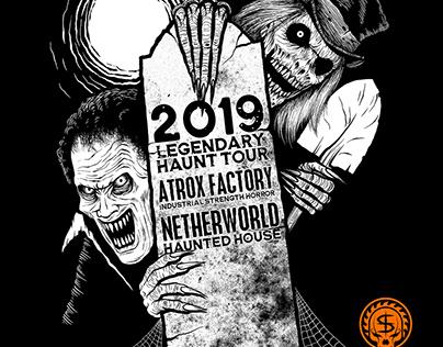 T-shirt Design for Legendary Haunt Tour 2019