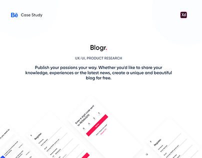 Blogr - Blogging App Case Study