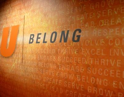 BGSU wall art installation