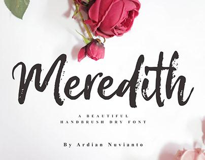 Meredith Handbrush Dry Font