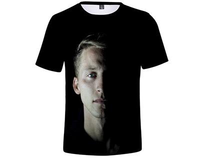 NF 3D Art Half Sleeves T-Shirt