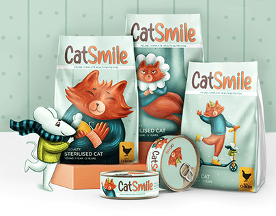 Cat Smile. Cat food line concept
