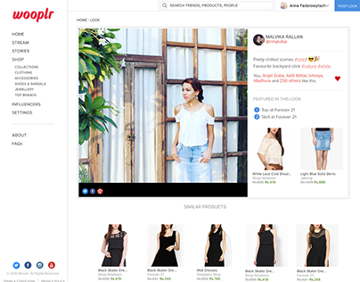 Fashion eCommerce Web Site Redesign.