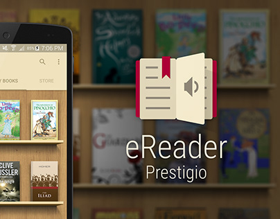 eReader Prestigio — Android App Logo Redesign (2015)