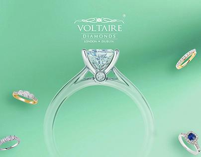 Voltaire Diamonds Logo Branding and Web Design
