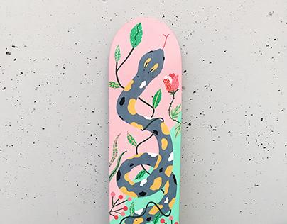 Skateboard deck illustration