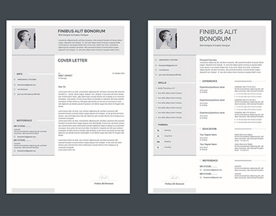 Free Resume & Cover Letter template 2018