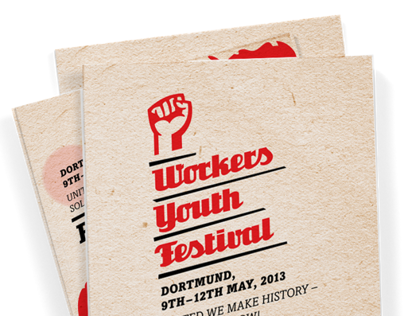 Brochure for the Workers Youth Festival