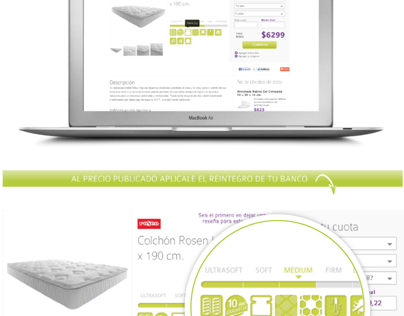 Iconography for mattresses retail & ecommerce