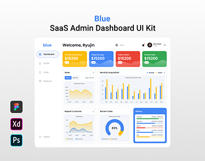 Blue - SaaS Admin Dashboard UI Kit