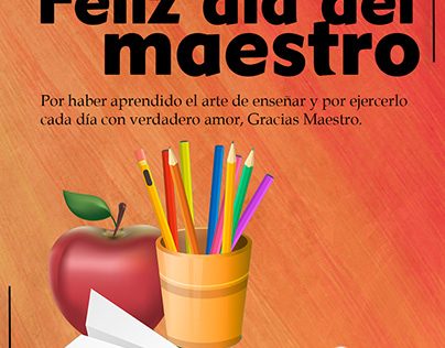 Día del maestro peruano.