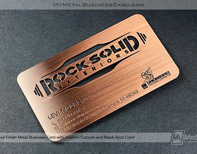 Copper Finish Business Card with Custom Cutouts