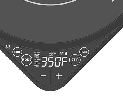 Concept Induction Cooktop with Advanced Functionality