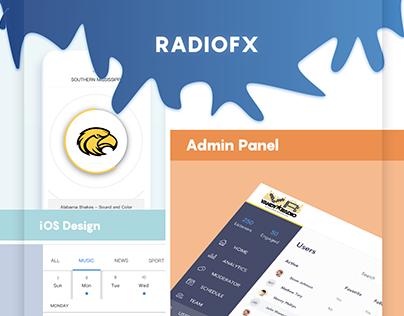Radio Mobile and Web service. UI UX