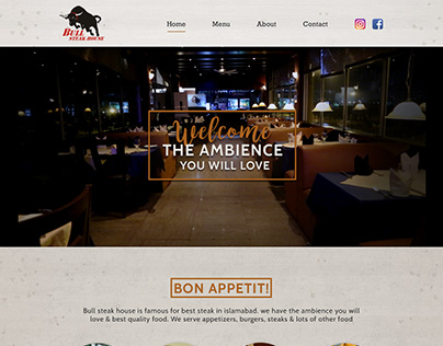 Steak house website development services.