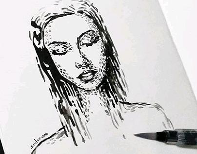 Experimental Portraits - INKTOBER 2016