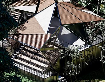 Origami Amphitheater by Thomas Cravero