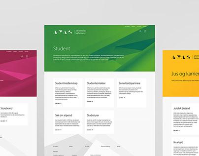 Arkitektenes fagforbund Webdesign
