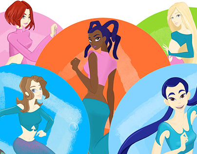 #Mermay2020. Mermaids in the W.I.T.C.H. world.