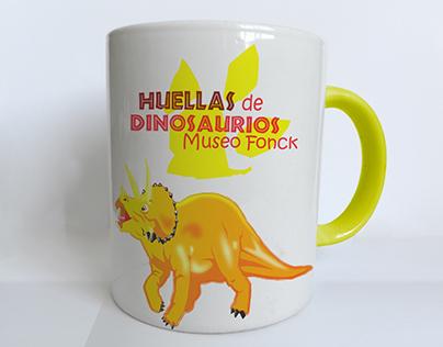Mockup tazones dinosaurios
