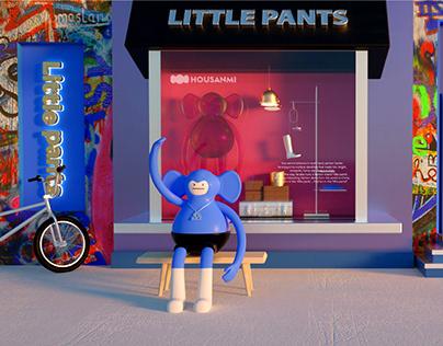 ip character design | little pants monkey